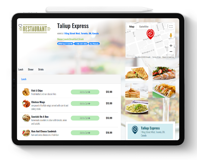 Contactless Online Ordering and Payment For Your Restaurants